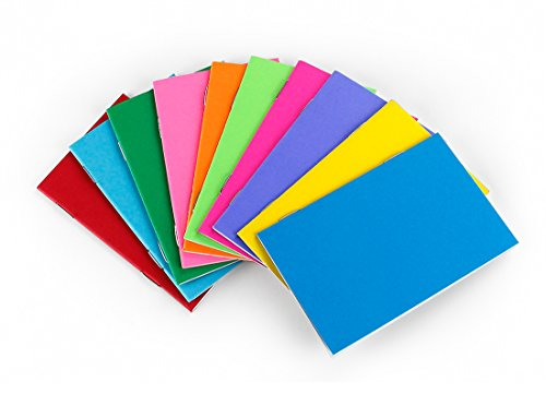 Hygloss Tiny Colorful Blank Books - Notebook, Sketch Pad, Journal for Drawing, Writing and Scrapbooking -, 2 ¾ x 4 ¼-inch - 20 per Pack from Hygloss