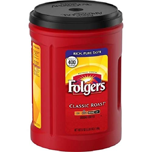 Folgers Coffee, Classic(Medium) Roast, 48 Ounce, 6 Pack ()