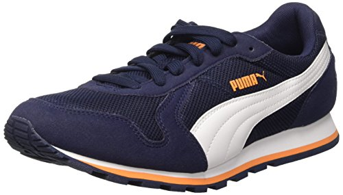 Puma ST Runner Mesh Zapatos de Running Peacoat/White/Orange Pop