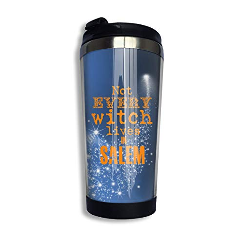 (Coffee Travel Mug Witch Salem Bottle Car Tumbler Cup Iced Tea Or Water Insulated Thermal Cup Stainless Steel for Hiking, Camping & Working)