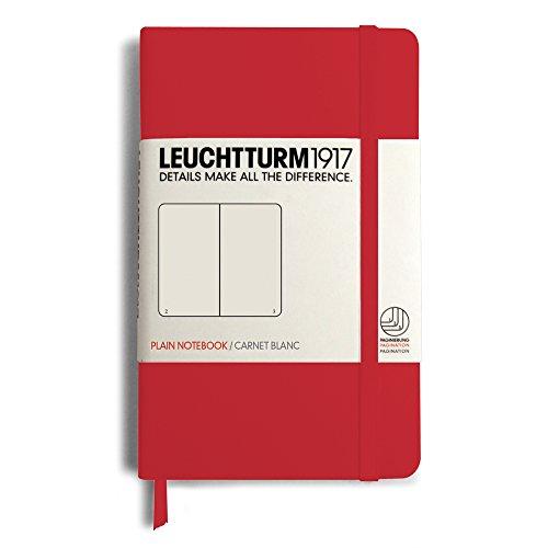 Leuchtturm Pocket Hardcover Plain Red