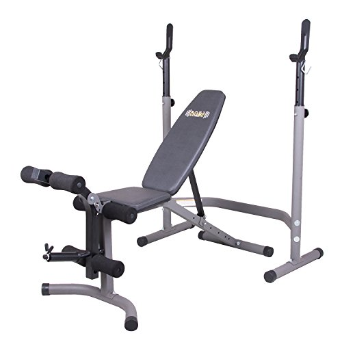 Body Champ Olympic Weight Bench with Leg Extension Curl Lift Developer...