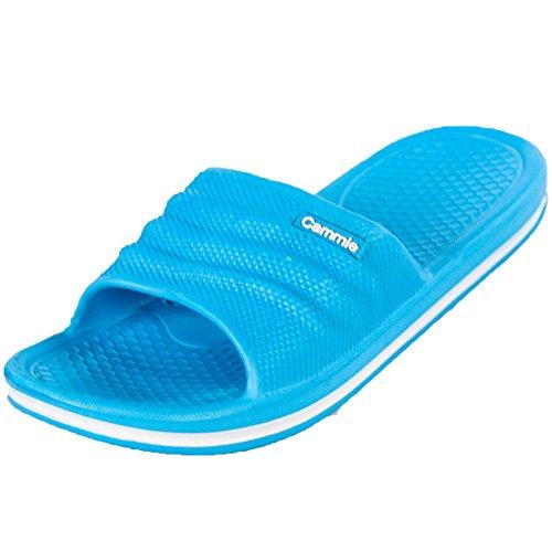 Cammie Kvinna Komfort Slip På Glid Sandaler Blå