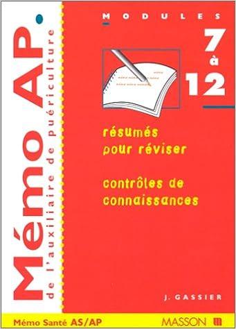 En ligne téléchargement gratuit Mémo AP de l'auxilliaire de puériculture : Modules 7 à 12 pdf epub