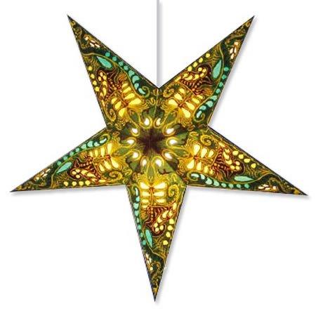 Filigree Green Star Lantern ()