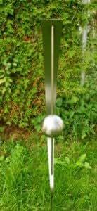 Jardín Decoración Escultura 100% acero inoxidable 120cm, con bolas de acero inoxidable *