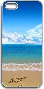 Dseason Iphone 5S case, Slim Hard Unique Design Love the beach