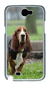 Basset Hound Hunting Dog Custom Designer Samsung Galaxy Note 2/Note II / N7100 Case Cover - Polycarbonate - White