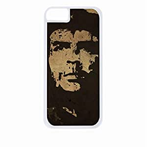 Zheng caseChe Guevara-Hard White Plastic Snap - On Case with Soft Black Rubber Lining-Apple Iphone 5 - 5s - Great Quality!