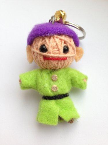 Dopey Dwarf Voodoo String Doll Keychain Ornament