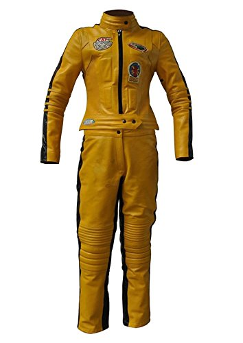 SRHides Women's Fashion Uma Thurman Kill Bill Real Leather Costume Suit Small -