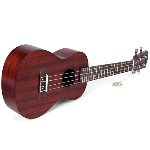"ADM 23"" Deluxe Mahogany Concert Ukulele Kit with Bag, Strap, Tuner and Picks - Image 8"