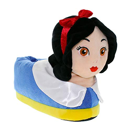 7004-3 - Disney Princess - Snow White Slippers - Medium/Large - Happy Feet Mens and Womens Slippers -