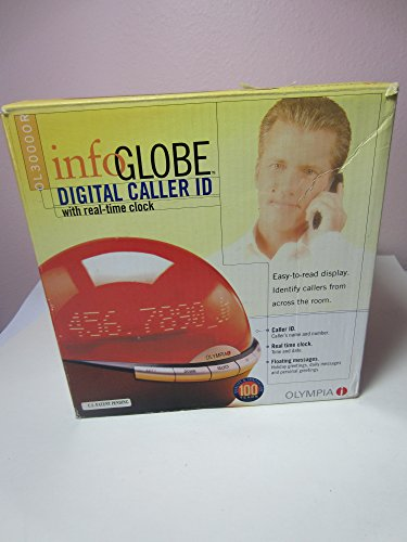 Olympia OL3000-OR Infoglobe Digital Caller ID with Real-Time ORANGE by Olympia