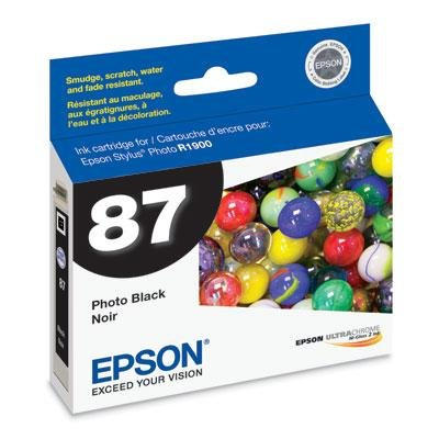 Epson Black Ink Cart - Epson America T087120 Photo Black Ink Cart R1900