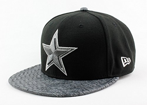 Dallas Cowboys NFL New Era Authentic Special Visor Cross 9FIFTY Snapback Hat OSFM (Medium/Large) Black Charcoal Gray Cap