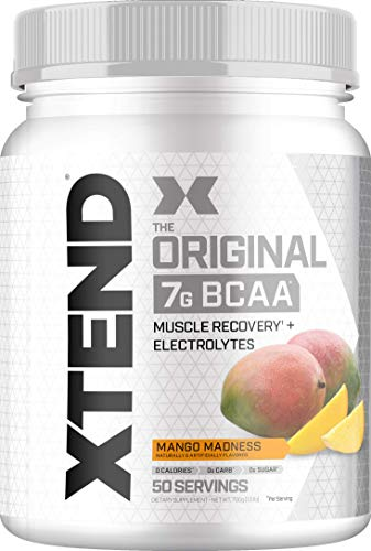 Scivation Xtend BCAA Powder, Branched Chain Amino Acids, BCAAs, Mango Madness, 50 Servings, 25 Oz (Cellucor Whey Best Flavor)