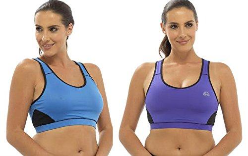 Tom Franks - Camisa deportiva - Sin mangas - para mujer purple-blue