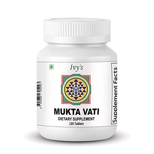 Original Ivy's Mukta Vati - Natural Ayurvedic Blood Pressure Support - 120 Tablets With Eight Major Herbs Formula (Best Tips To Quit Smoking Weed)