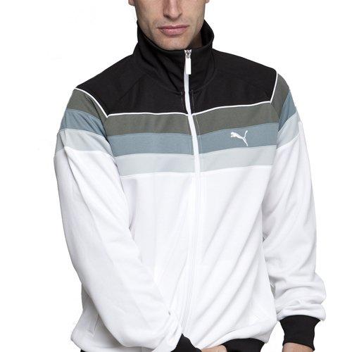 e5cf890b682c Mens Puma White Tracksuit Top - XL  Amazon.co.uk  Clothing