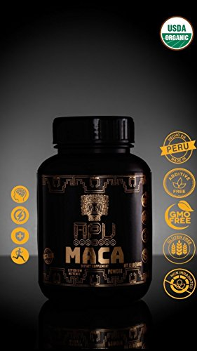 Premium Organic Maca Powder, Lepidium Meyenii. Blend: Yellow, red and black Maca powder. GMO-free, Gluten free, additive free , non-irradiated, 100% made in Peru. 500g -100 servings, by Apu Nutrition INC