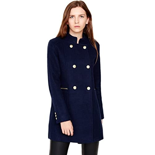 Escalier Women's Double-Breasted Pea Coat Winter Woolen Jacket supplier