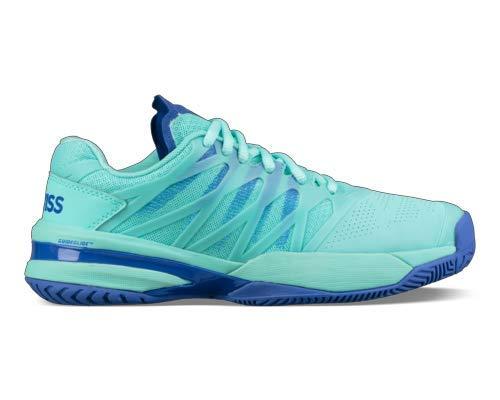 K-Swiss Women's Ultrashot, Aruba Blue/Dazzling Blue, Size 10 -