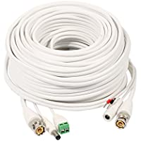 uxcell 20M BNC DC Video Power RS485 Control Cable Wire for CCTV Security HD Camera