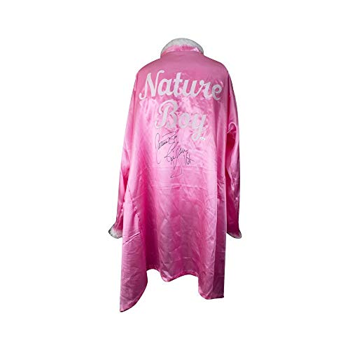 Ric Flair Autographed w/Inscription Pink Feather Nature Boy Robe - JSA COA]()