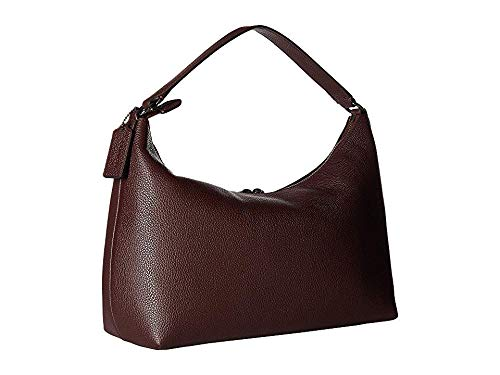 COACH Pebbled Leather East/West Celeste Convertible Hobo Warm Oxblood One Size