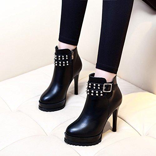 Pantoufles MEIDUO sandales Femmes Chaussures PU Printemps Été Semelles Légères Talons Low Heel Buckle pour Casual Confortable (Couleur : A, taille : EU36/UK4/CN36)