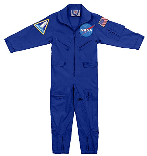 Rothco Kids NASA Flight Coveralls With Official NASA Patch, M by Rothco