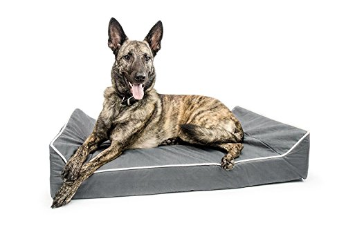 Titan Dog Bed- Chew Resistant, Memory Foam, Washable Cover, Waterproof Liner - Durable Premium Dog Bed by Titan Dog Bed