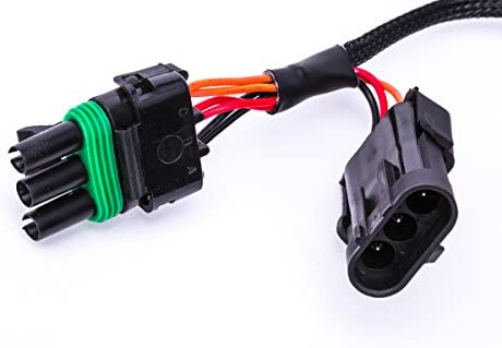 or Rear Chase Light P15788A Power Play Parts Can-Am Maverick X3 Quick Harness For License Plate Whip Light