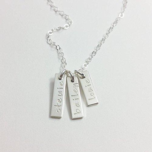 Mom necklace, pet memorial necklace, grandmother necklace, name necklace, family necklace, silver, gold, rose gold, name necklace, custom necklace