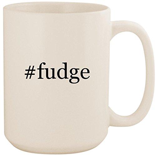 #fudge - White Hashtag 15oz Ceramic Coffee Mug Cup