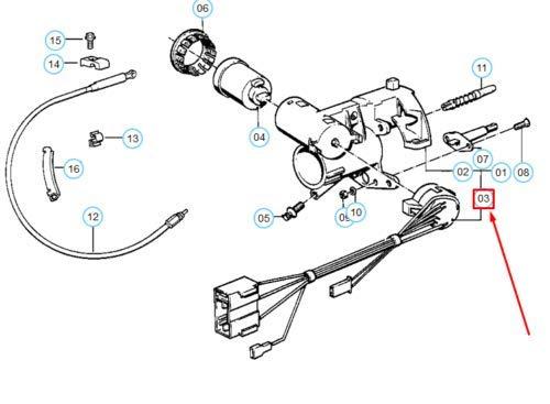 5er-Serie E34 Z/ündschloss Schalter 61321384839 Neu Original