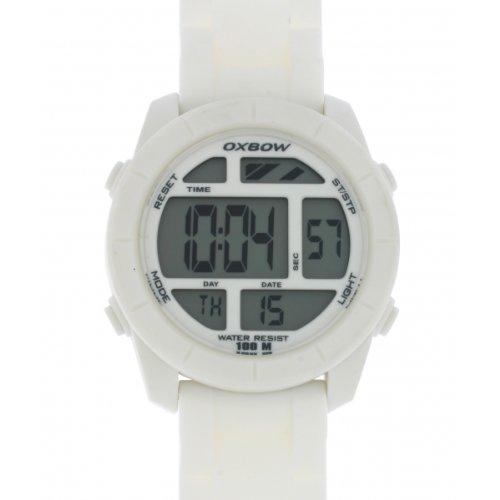 Oxbow 4547001 - Reloj digital de cuarzo unisex, correa de plástico color blanco: Amazon.es: Relojes