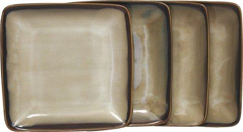 Amazon.com | Sango Nova Brown Square Salad Plates, Set Of 4: Accent Plates
