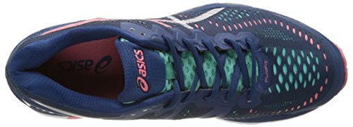 Asics Women's Kayano 23 Training Shoes Blue (Poseidon/Silver/Cockatoo) 7HQHlw