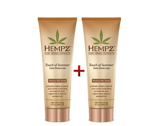 Hempz 8 Ounce Summer Moisturizer Medium