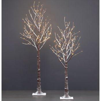 Amazon Com 2pk Led Flocked Twig Trees 5 5 Ft Tree With