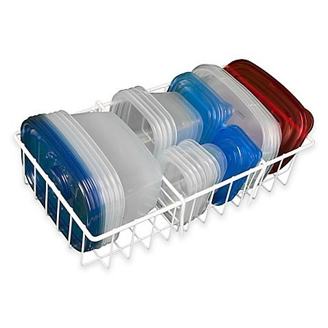 Hoovy White Adjustable Food Storage Organizer  | Kitchen Cab