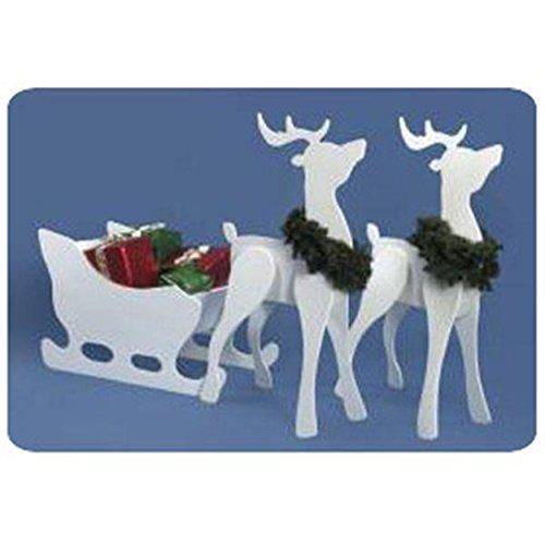 Woodworking Project Paper Plan to Build Proud Reindeer and Sleigh Combo Reindeer Plan