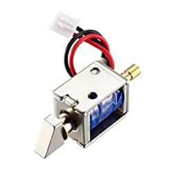 uxcell DC 12V 0.43A 4mm Mini Electromagn...