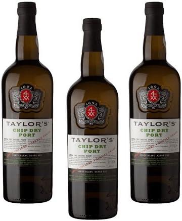Vino de Oporto Taylors Chip Dry - Vino Fortificado- 3 Botellas