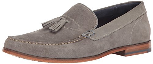 Ted Baker Hombres Dougge Sued Am Loafer Gris Claro