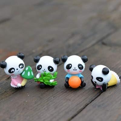 - ZAMTAC 4 Pieces China Panda Bear Cat Bearcat Model Small Statue Figurine Mini Crafts Ornament Miniatures DIY Home Garden Decor - (Color: 4 Pieces)