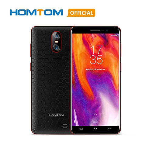 Original HOMTOM S12 3G WCDMA Android 6.0 Cell Phone, 5.0 inch 18:9 Full Display MTK6580 Quad Core 1GB RAM 8GB ROM Smart Phone, 2750mAh 8MP+2MP Dual Rear Cameras Global Version Mobile Phone-Black Red