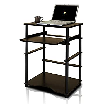 Furinno 10016EX/BK Home Laptop Notebook Computer Desk, Espresso/Black